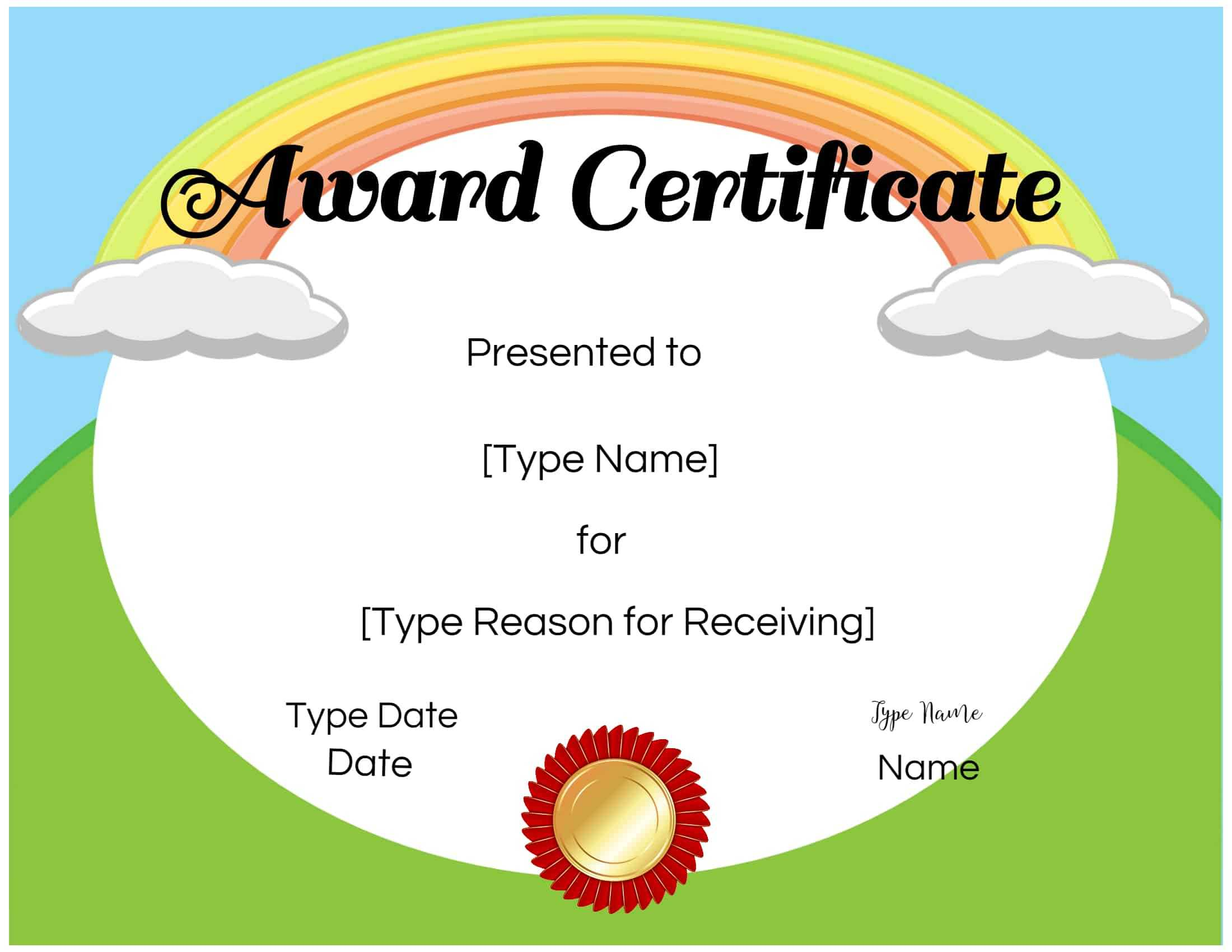 Free Custom Certificates For Kids | Customize Online & Print Throughout Free Kids Certificate Templates