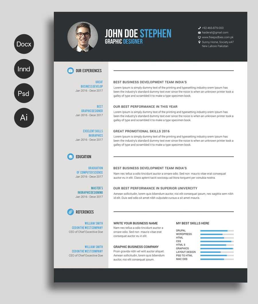 Free Cv Template | Free Bundles | Free Cv Template Word With Regard To Microsoft Word Resume Template Free