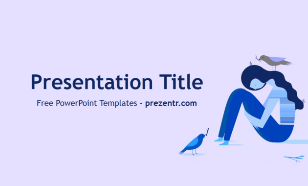Free Depression Powerpoint Template - Prezentr Powerpoint inside Depression Powerpoint Template