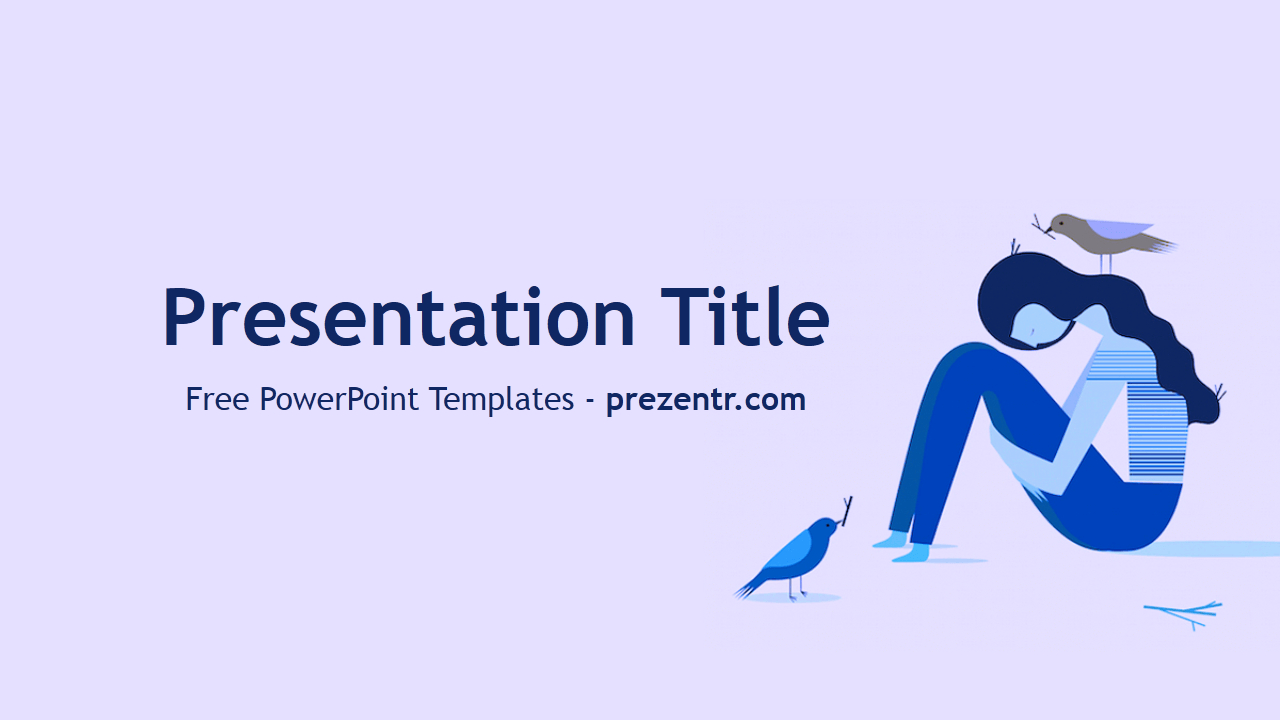 Free Depression Powerpoint Template - Prezentr Powerpoint Inside Depression Powerpoint Template