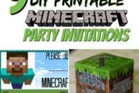 Free Diy Printable Minecraft Birthday Invitation – Clean in Minecraft Birthday Card Template
