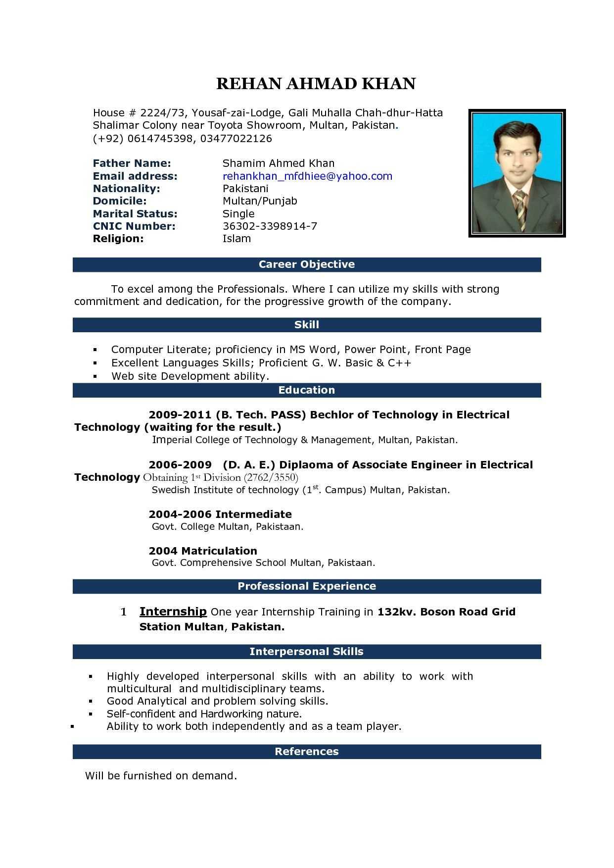 Free Download Cv Format In Ms Word Fieldstationco Microsoft Inside Free Basic Resume Templates Microsoft Word