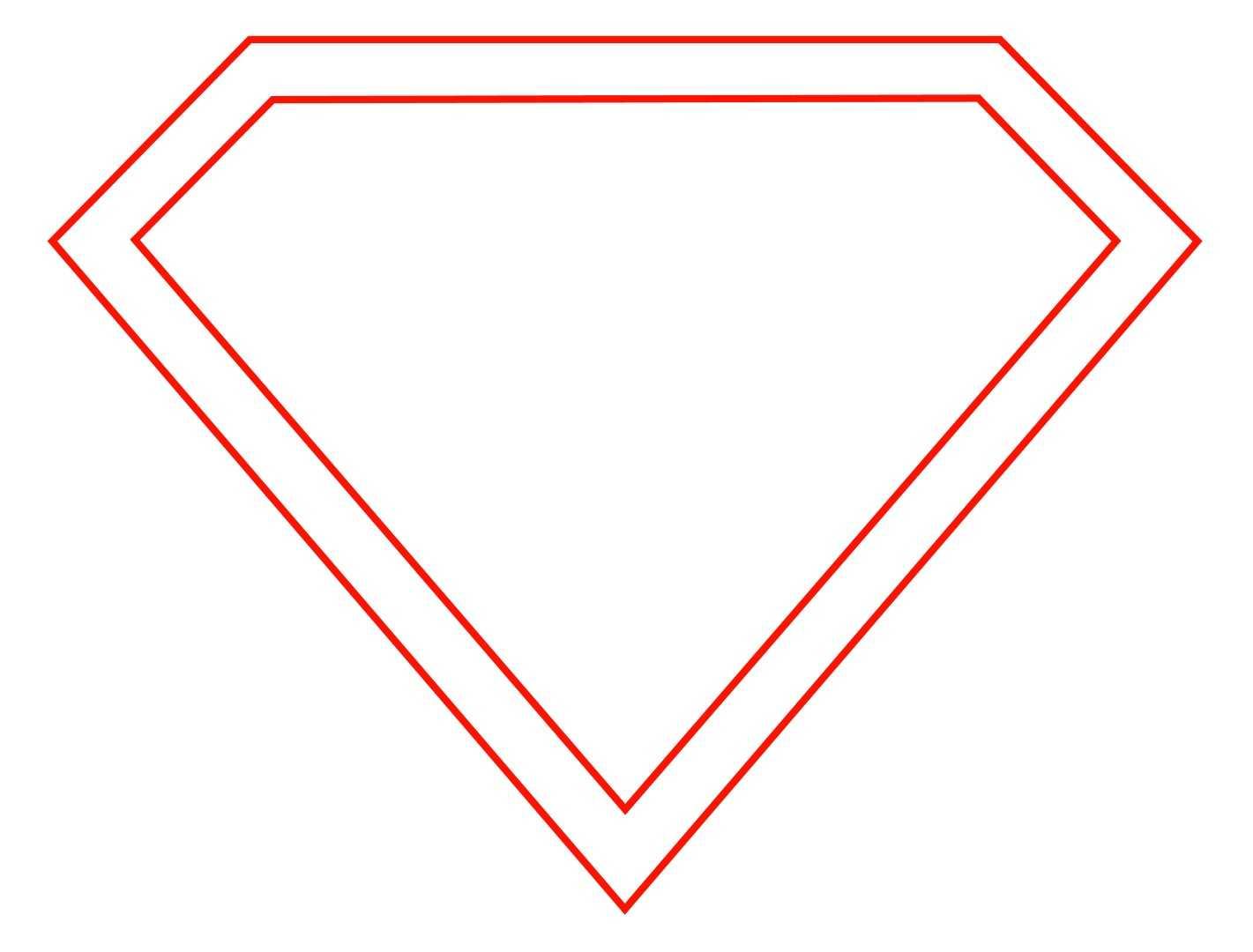 Free Empty Superman Logo, Download Free Clip Art, Free Clip Pertaining To Blank Superman Logo Template