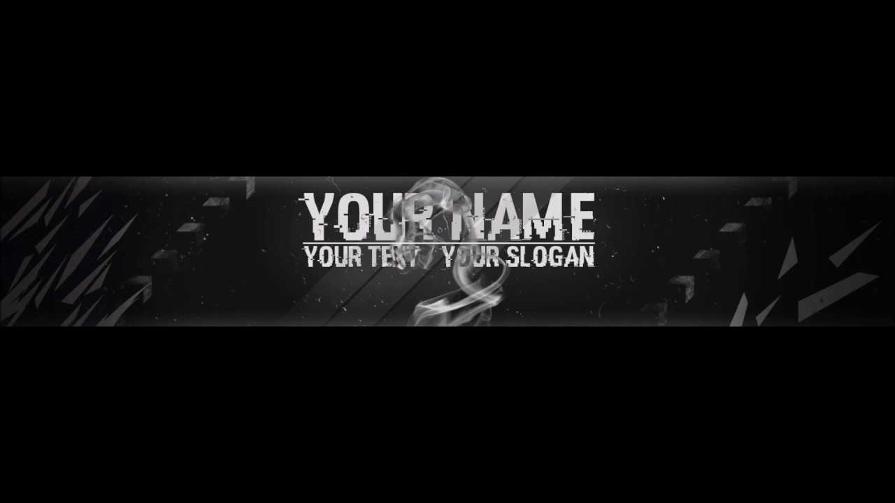 Free, Epic Youtube Banner / Channel Art Template - [Gimp And Photoshop] +  Download [Hacked Style] Inside Gimp Youtube Banner Template