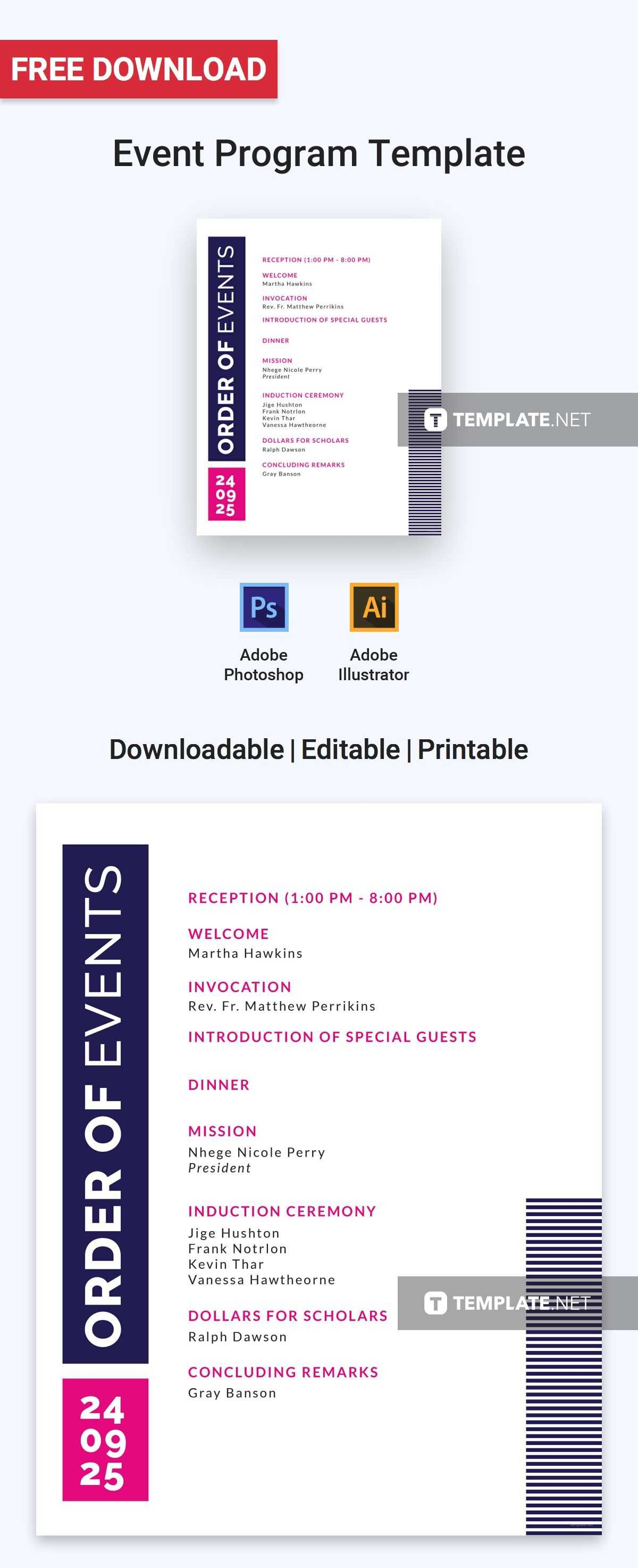 Free Event Program Invitation | Program Templates & Designs Intended For Free Event Program Templates Word
