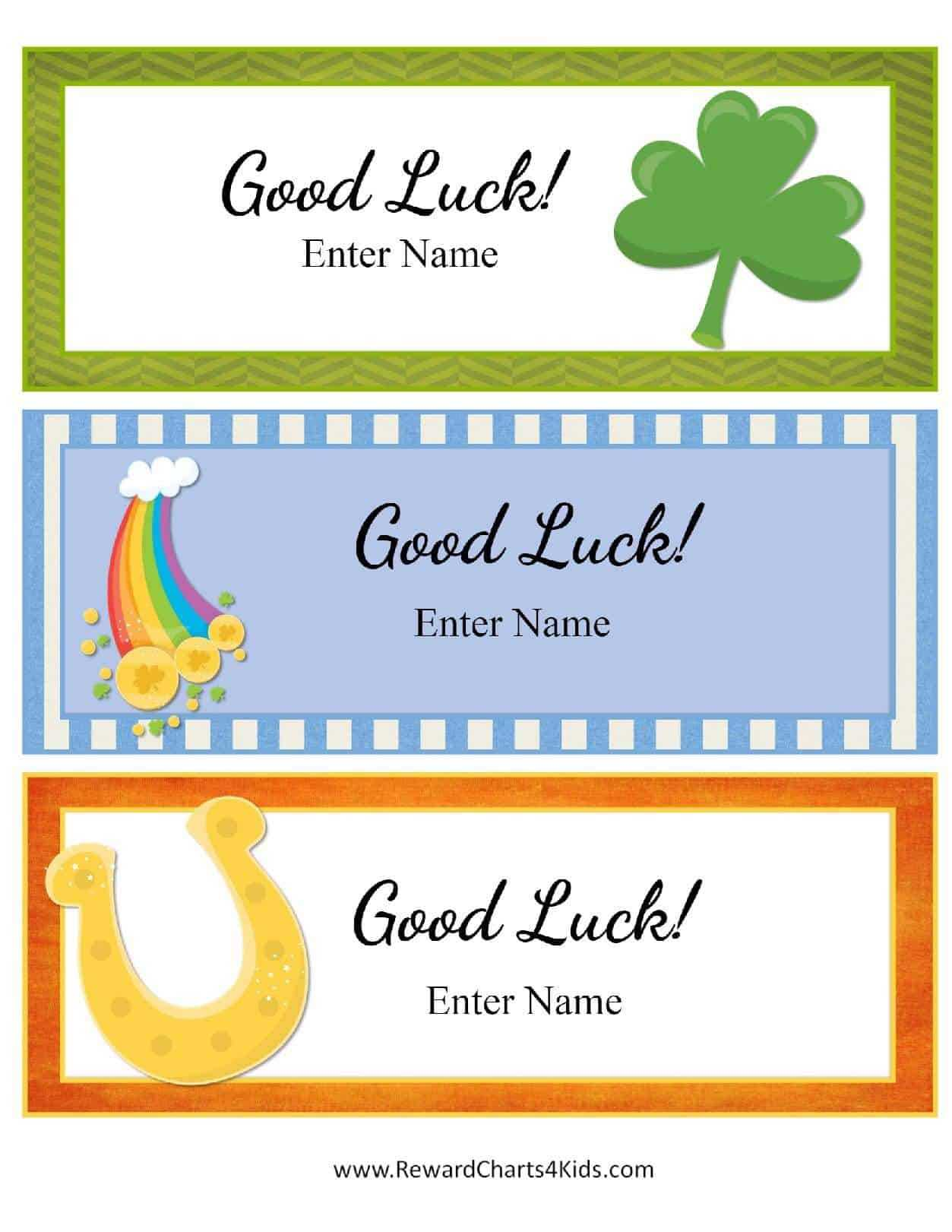 Free Good Luck Cards For Kids | Customize Online & Print At Home Intended For Good Luck Card Template