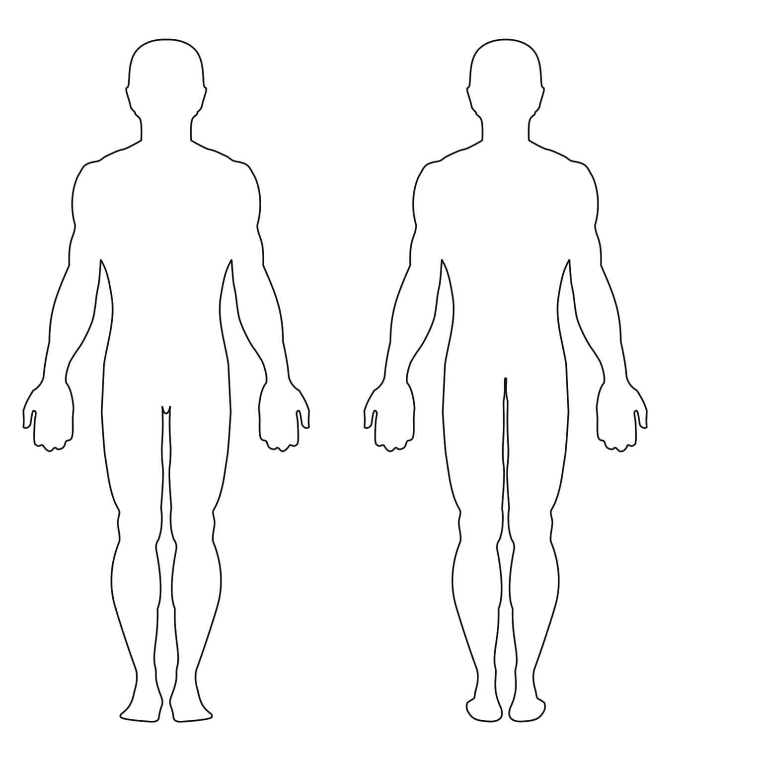 Free Human Body Outline Printable, Download Free Clip Art Throughout Blank Body Map Template