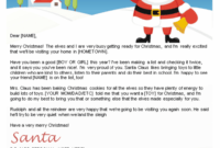 Free Letters From Santa | Santa Letters To Print At Home in Letter From Santa Template Word
