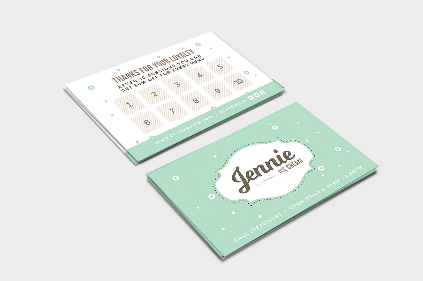 Free Loyalty Card Templates - Psd, Ai & Vector - Brandpacks Throughout Loyalty Card Design Template