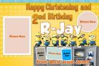 Free Minions Tarpaulin Template | Dioskouri Designs inside Minion Card Template
