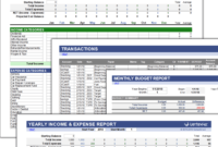Free Money Management Template For Excel for Fleet Management Report Template