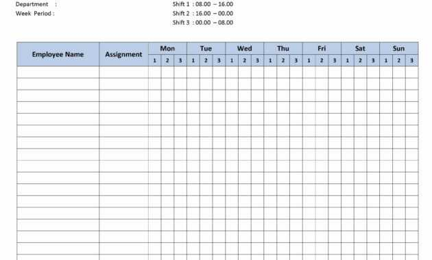 Free Monthly Work Schedule Template   Weekly Employee 8 Hour within Blank Monthly Work Schedule Template