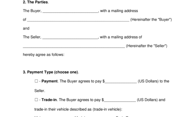 Free Motor Vehicle (Dmv) Bill Of Sale Form - Word | Pdf in Vehicle Bill Of Sale Template Word