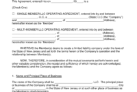 Free New Jersey Llc Operating Agreement Templates – Pdf with Llc Annual Report Template