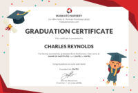 Free Nursery Graduation Certificate Template In Psd Ms Inside 5Th Grade Graduation Certificate Template