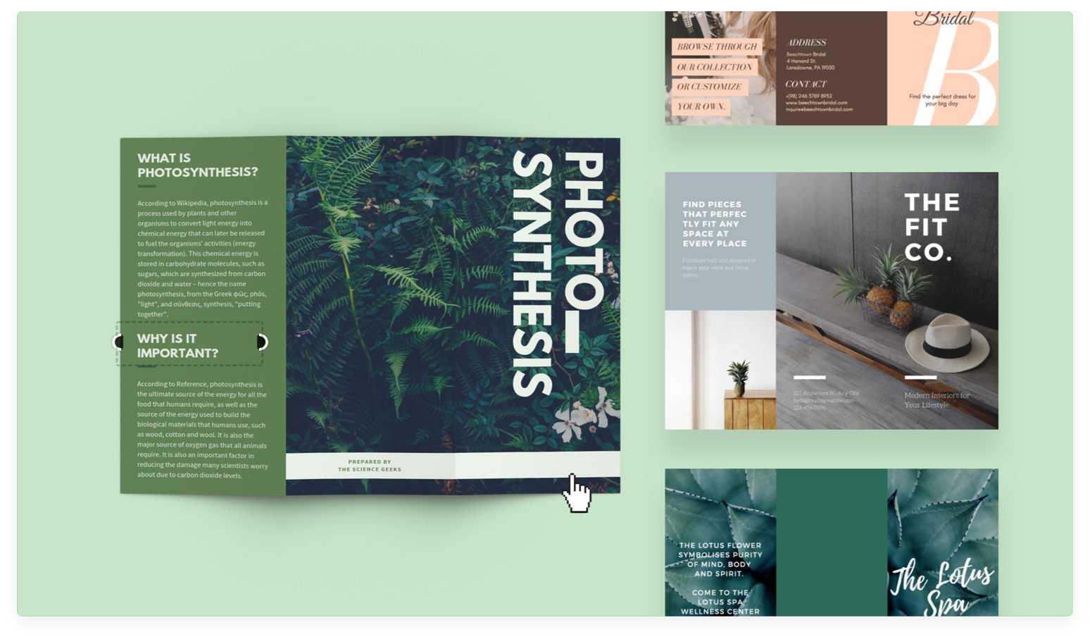 Free Online Brochure Maker: Design A Custom Brochure In Canva Regarding Online Free Brochure Design Templates