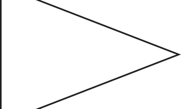 Free Pennant Banner Template, Download Free Clip Art, Free inside Free Triangle Banner Template