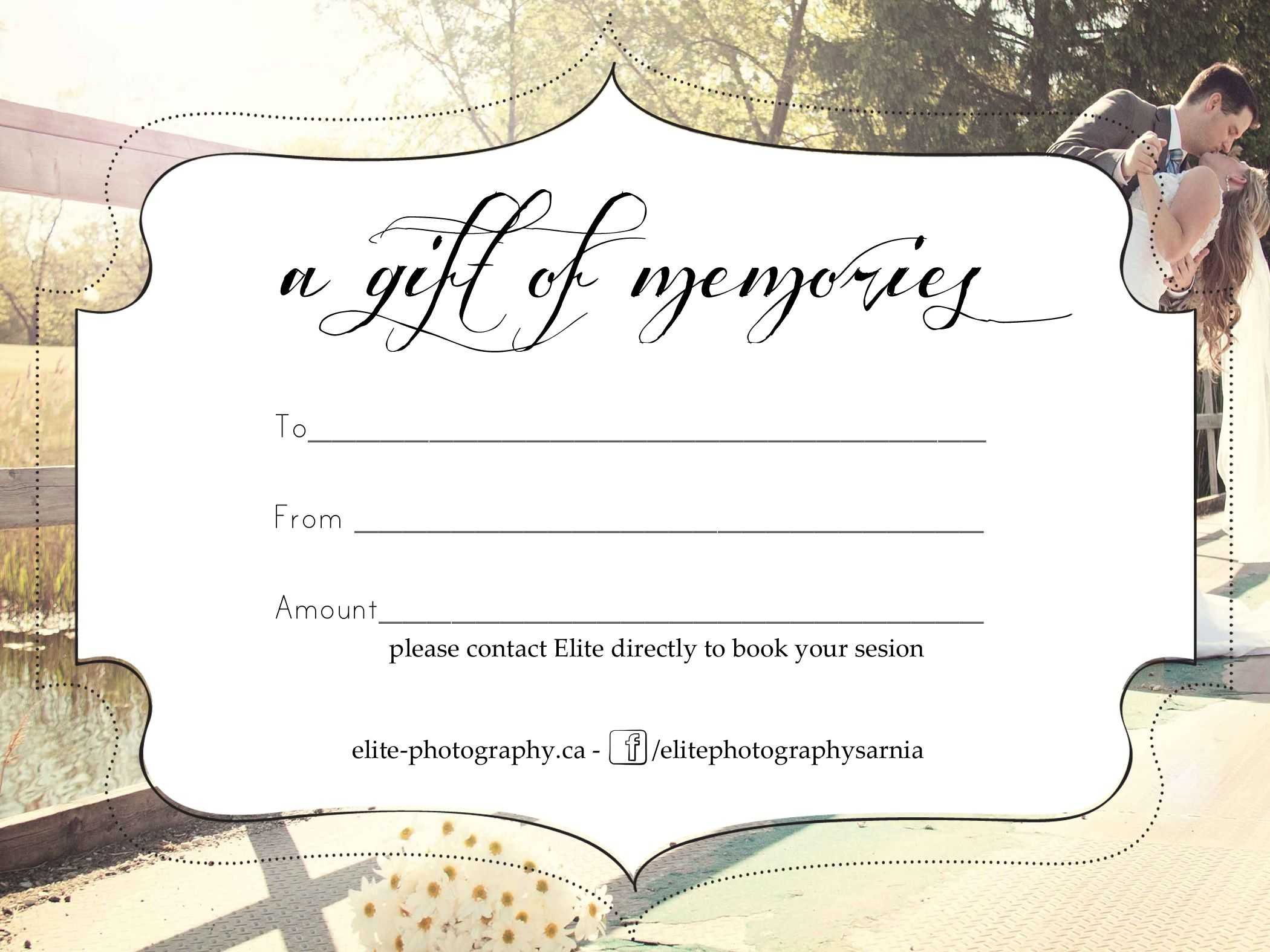 Free Photography Gift Certificate In Photoshoot Gift Certificate Template