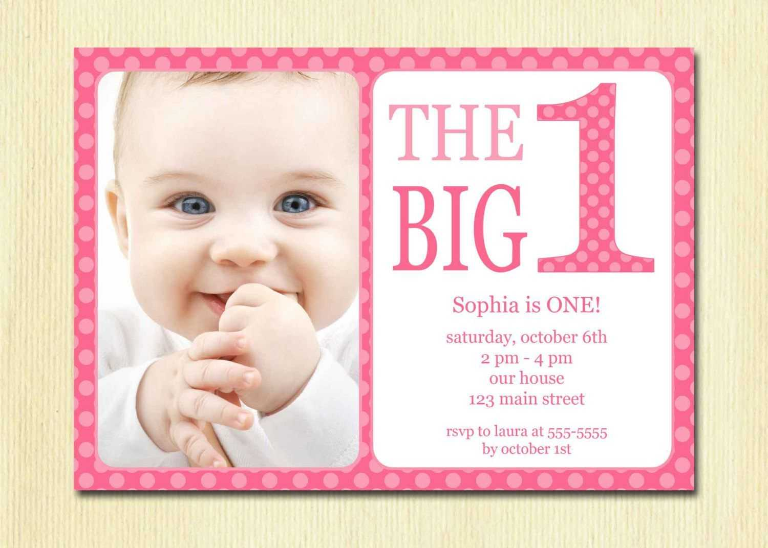 Free Printable 1St Birthday Invitation Template | Birthday In First Birthday Invitation Card Template