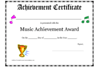 Free Printable Achievement Award Certificate Template within Academic Award Certificate Template