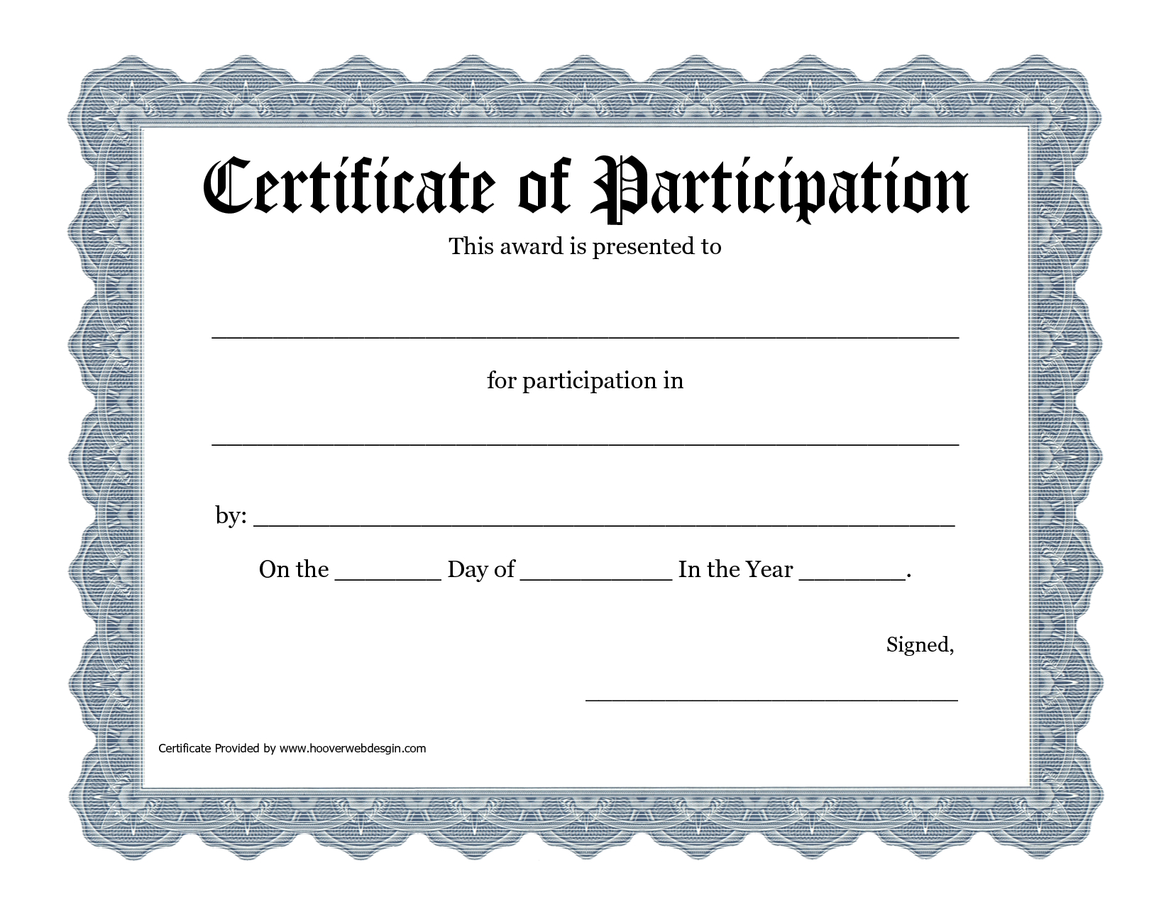 Free Printable Award Certificate Template - Bing Images In Certification Of Participation Free Template