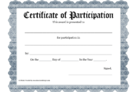 Free Printable Award Certificate Template – Bing Images inside Certificate Of Participation Template Word