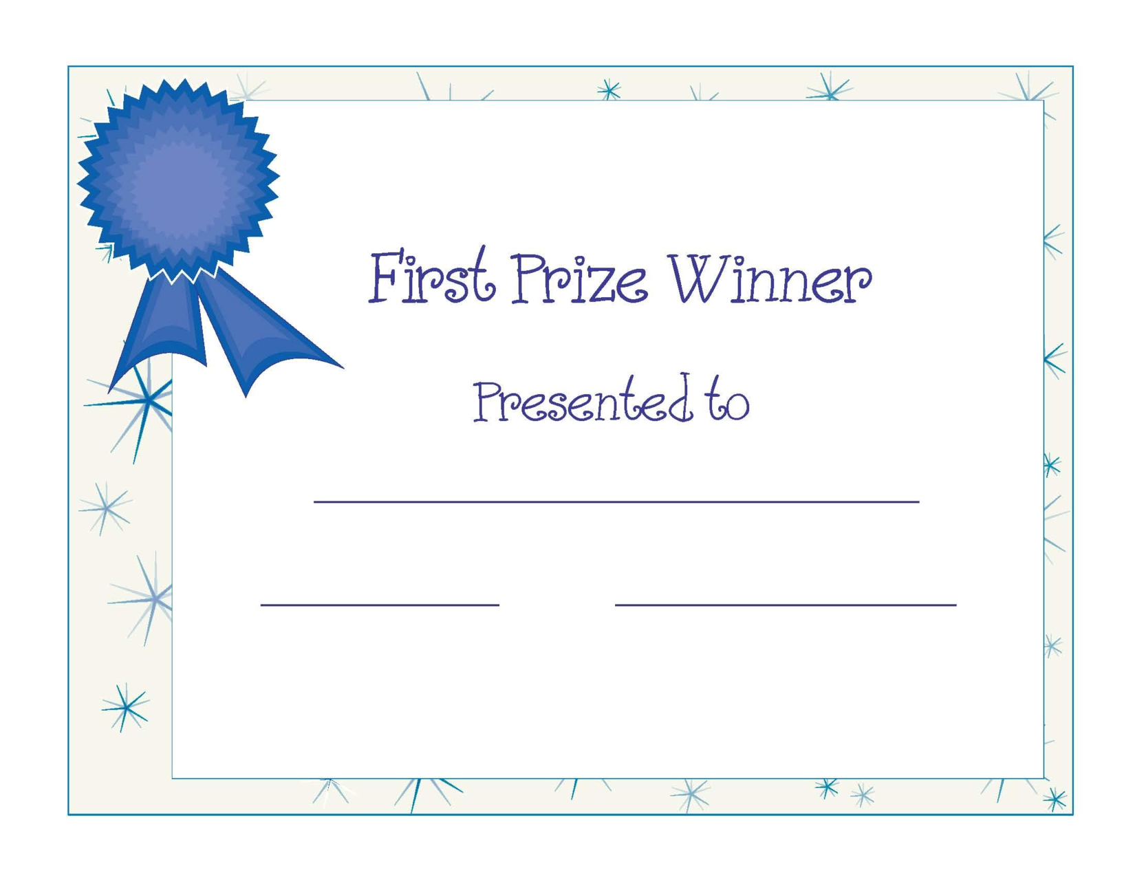 Free Printable Award Certificate Template | Free Printable For Star Award Certificate Template