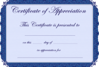 Free Printable Certificates Certificate Of Appreciation pertaining to Certificates Of Appreciation Template
