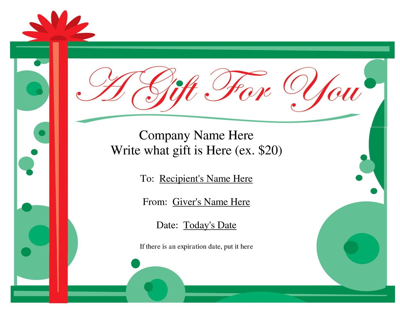 Free Printable Gift Certificate Template   Free Christmas Pertaining To Christmas Gift Certificate Template Free Download