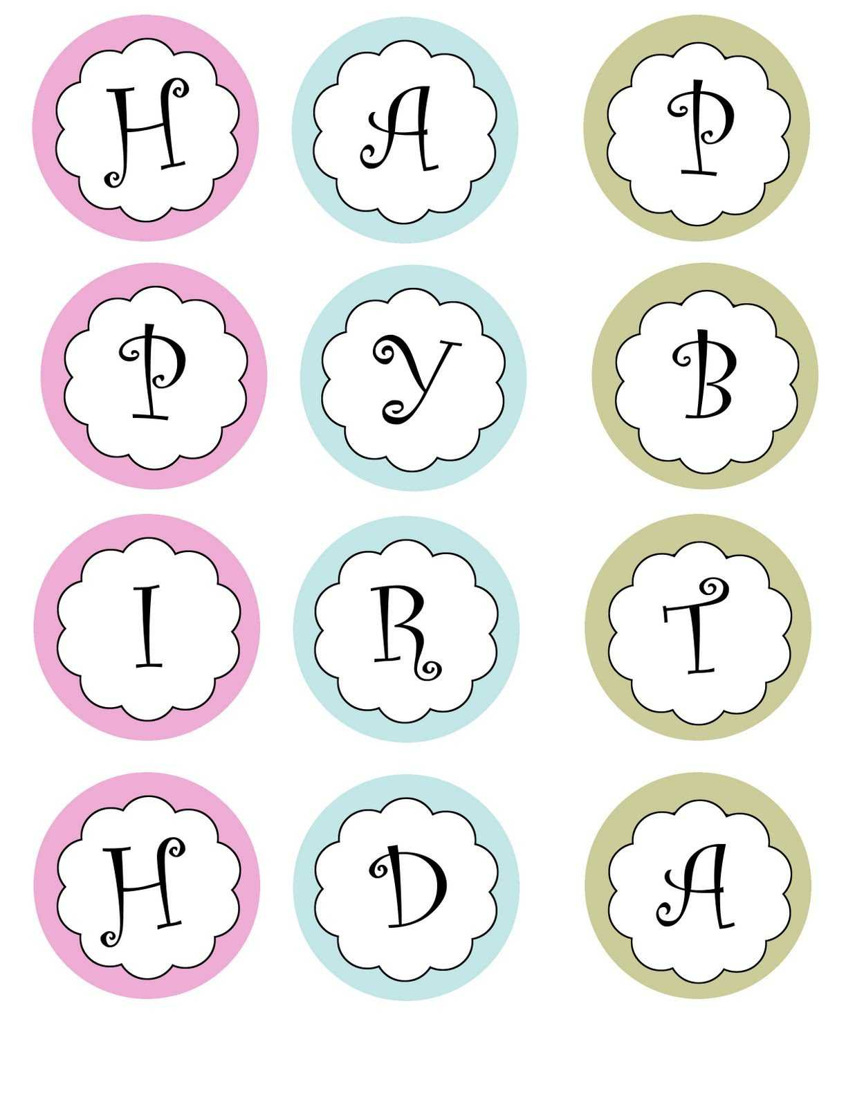 Free Printable Happy Birthday Banner Templates   Theveliger With Regard To Free Printable Party Banner Templates