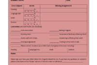 Free Printable Report Templates inside School Progress Report Template
