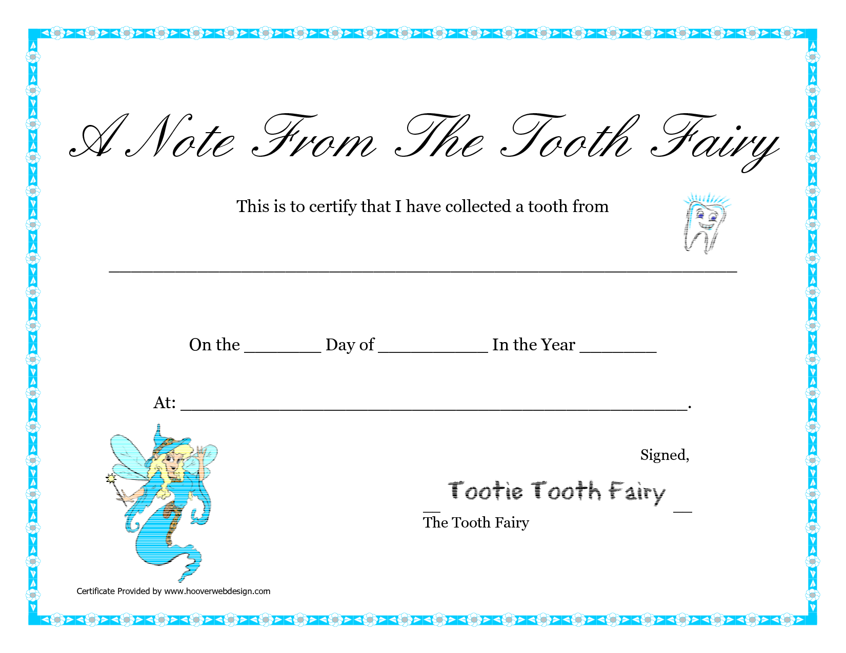 Free Printable Tooth Fairy Letter | Tooth Fairy Certificate Regarding Tooth Fairy Certificate Template Free