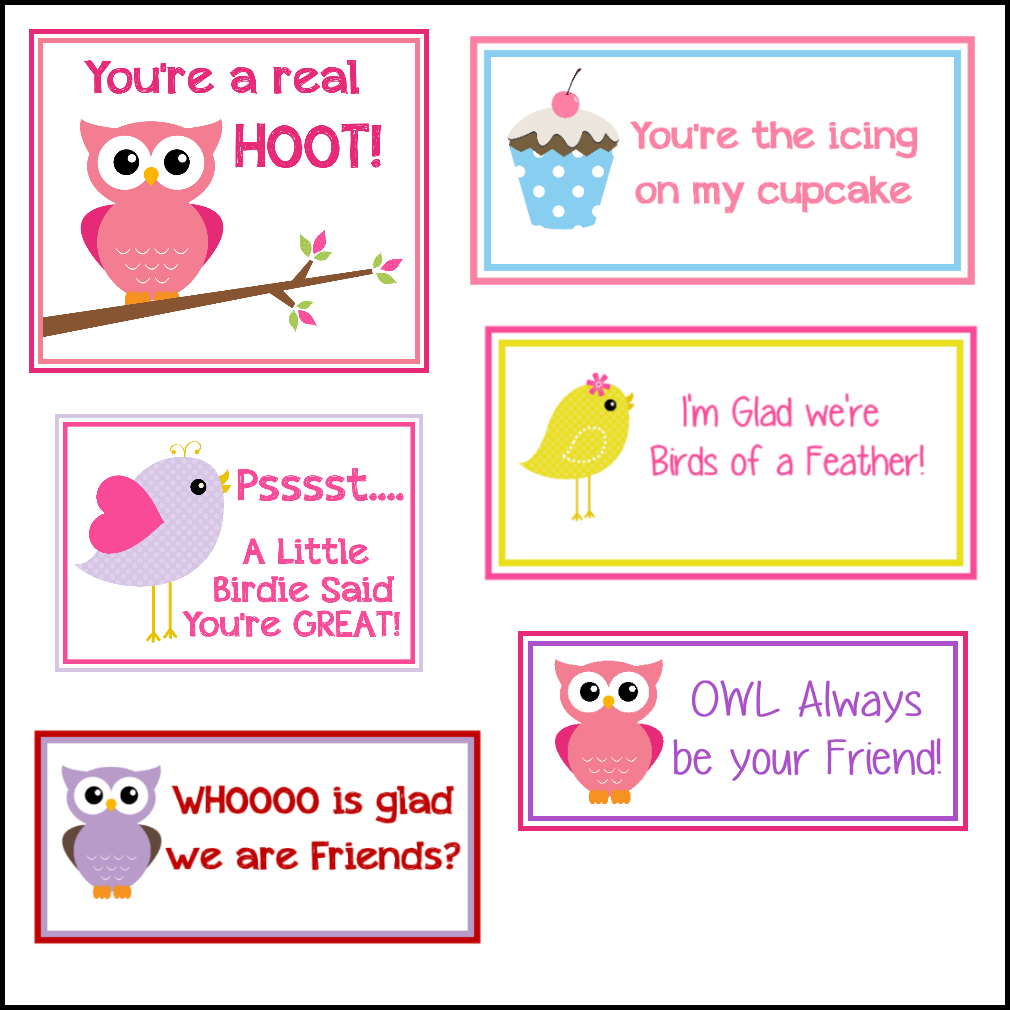Free Printable Valentine's Cards (A Lot Of Them   Diy Owl Within Valentine Card Template For Kids