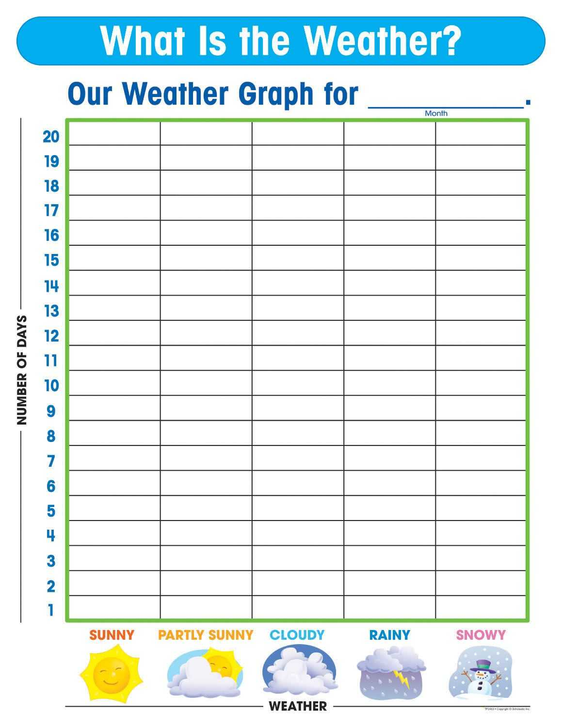Free Printable Weather Graphs For Kindergarten Throughout Kids Weather Report Template