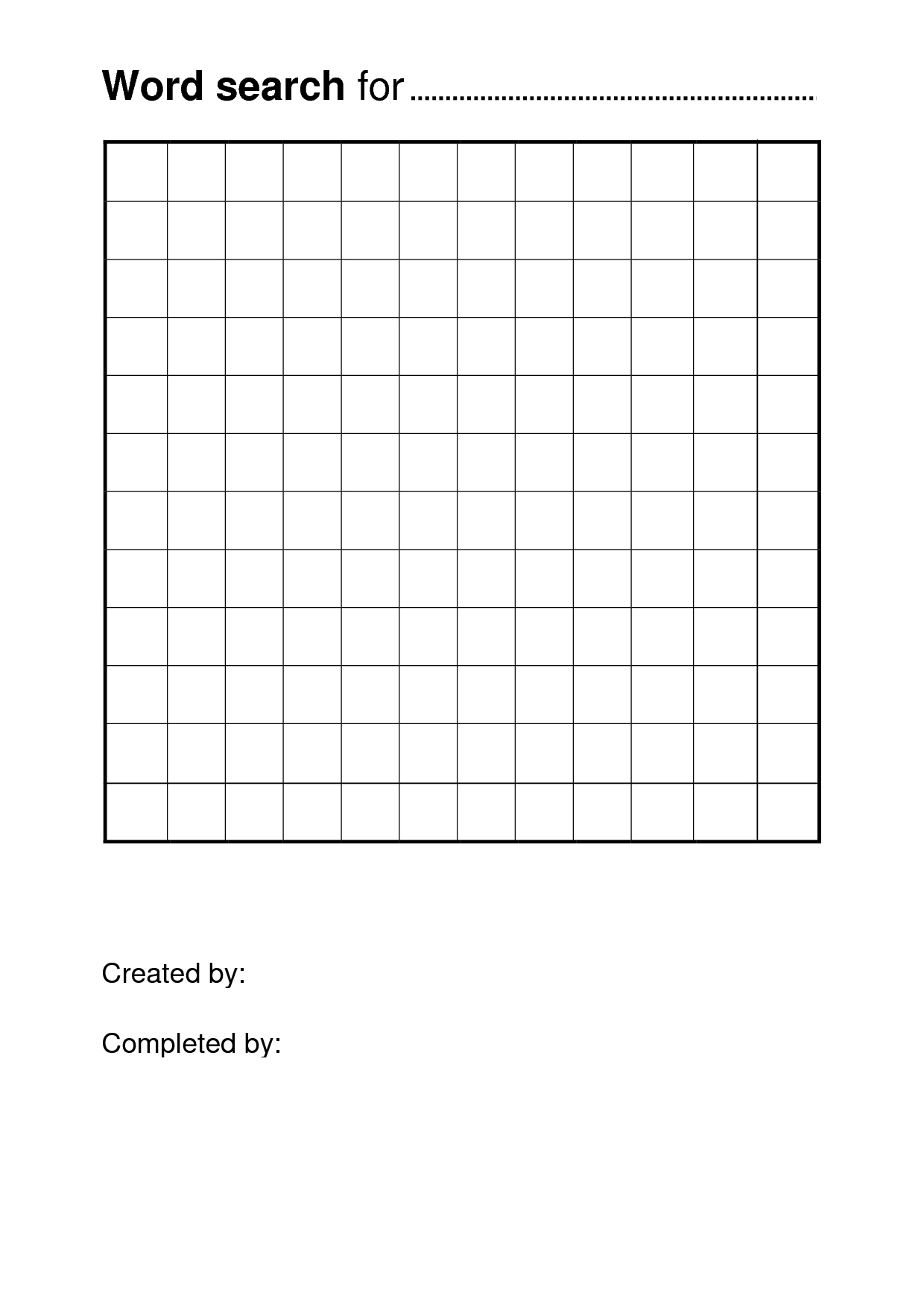 Free Printable Word Search Puzzle Templates | Pisanie | Free Pertaining To Blank Word Search Template Free