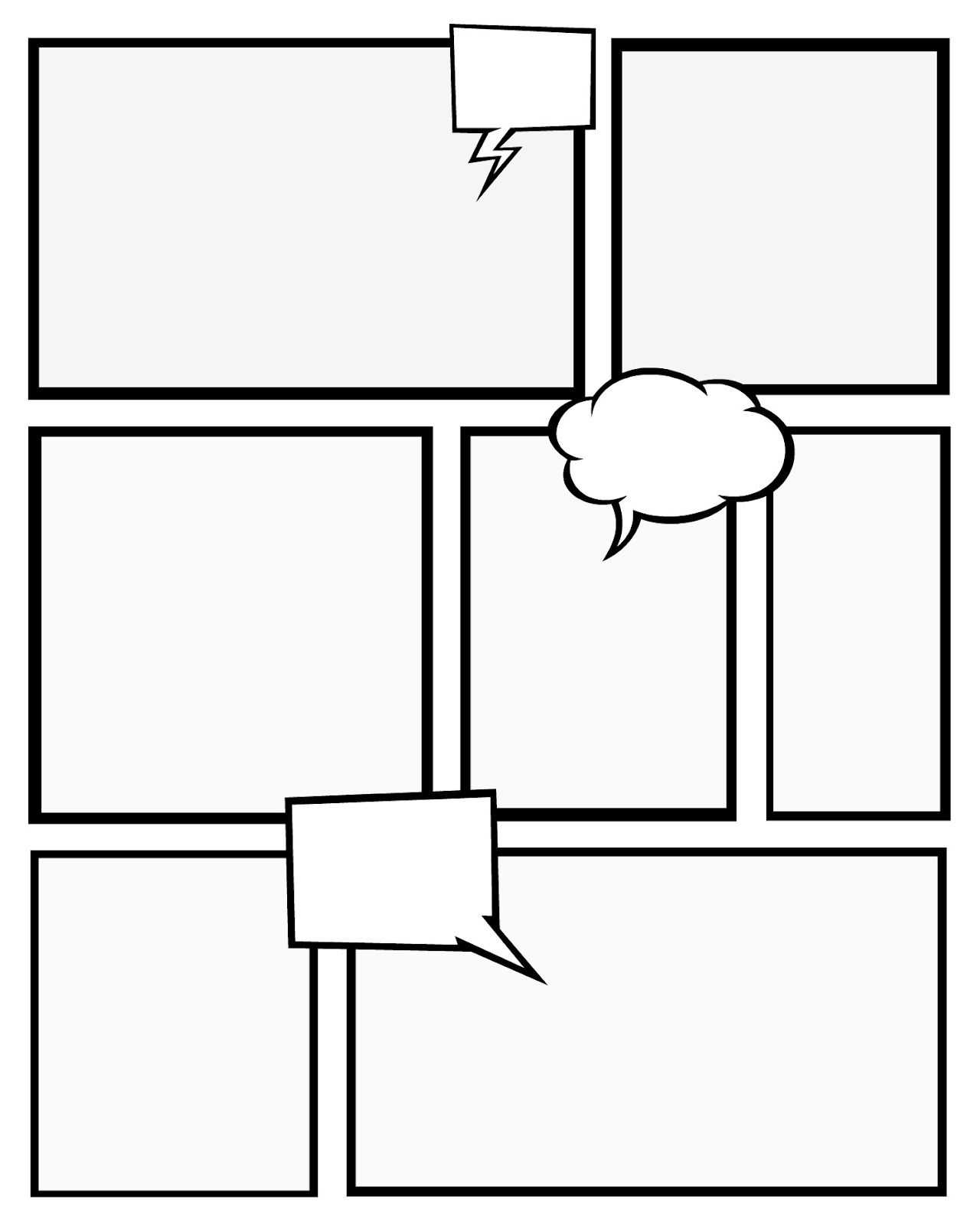 Free Printables Comic Strips To Use For Story Telling (3 With Regard To Printable Blank Comic Strip Template For Kids