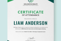 Free Program Attendance Certificate   Sokha   Certificate in Indesign Certificate Template