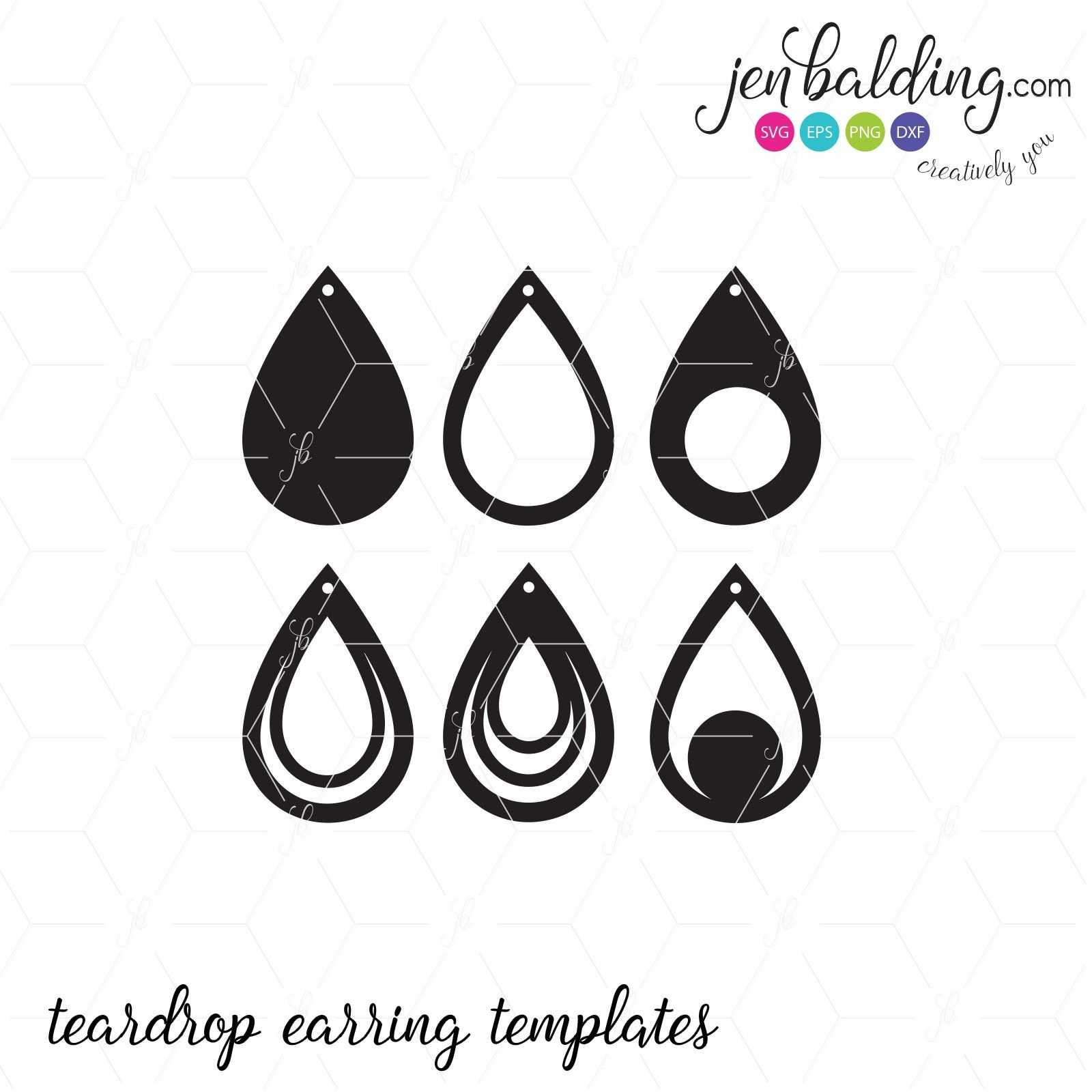 Free Svg Card Templates | Best  | Leather Earrings Inside Free Svg Card Templates