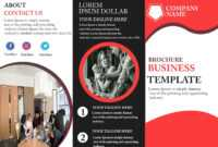 Free Tri-Fold Brochure Template – Download Free Tri-Fold within Free Three Fold Brochure Template