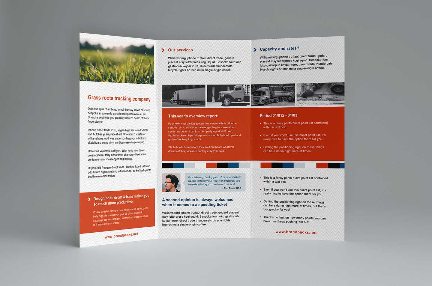 Free Trifold Brochure Template In Psd, Ai & Vector - Brandpacks With Regard To Free Three Fold Brochure Template
