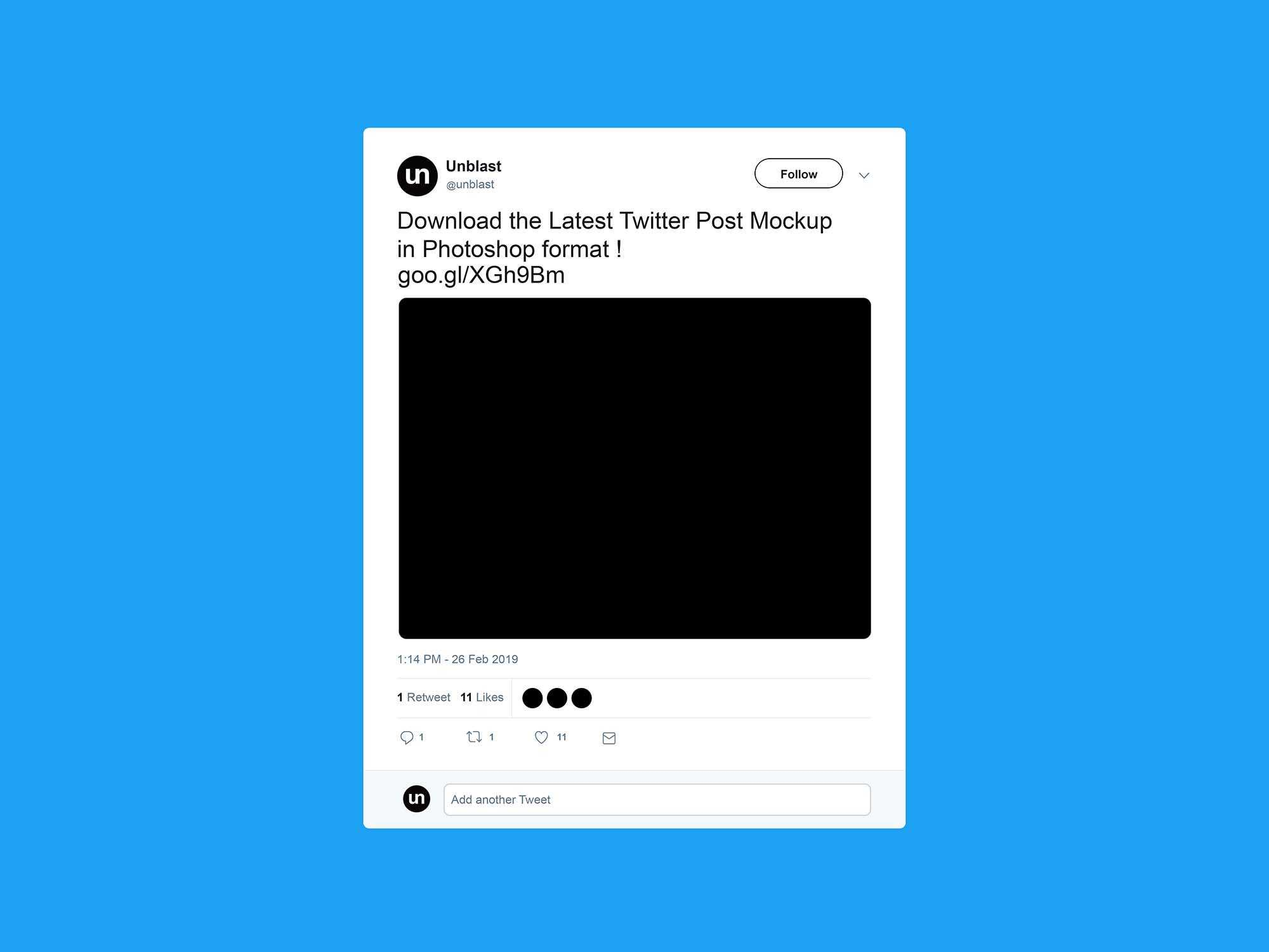 Free Twitter Post Mockup (2019) Within Blank Twitter Profile Inside Blank Twitter Profile Template