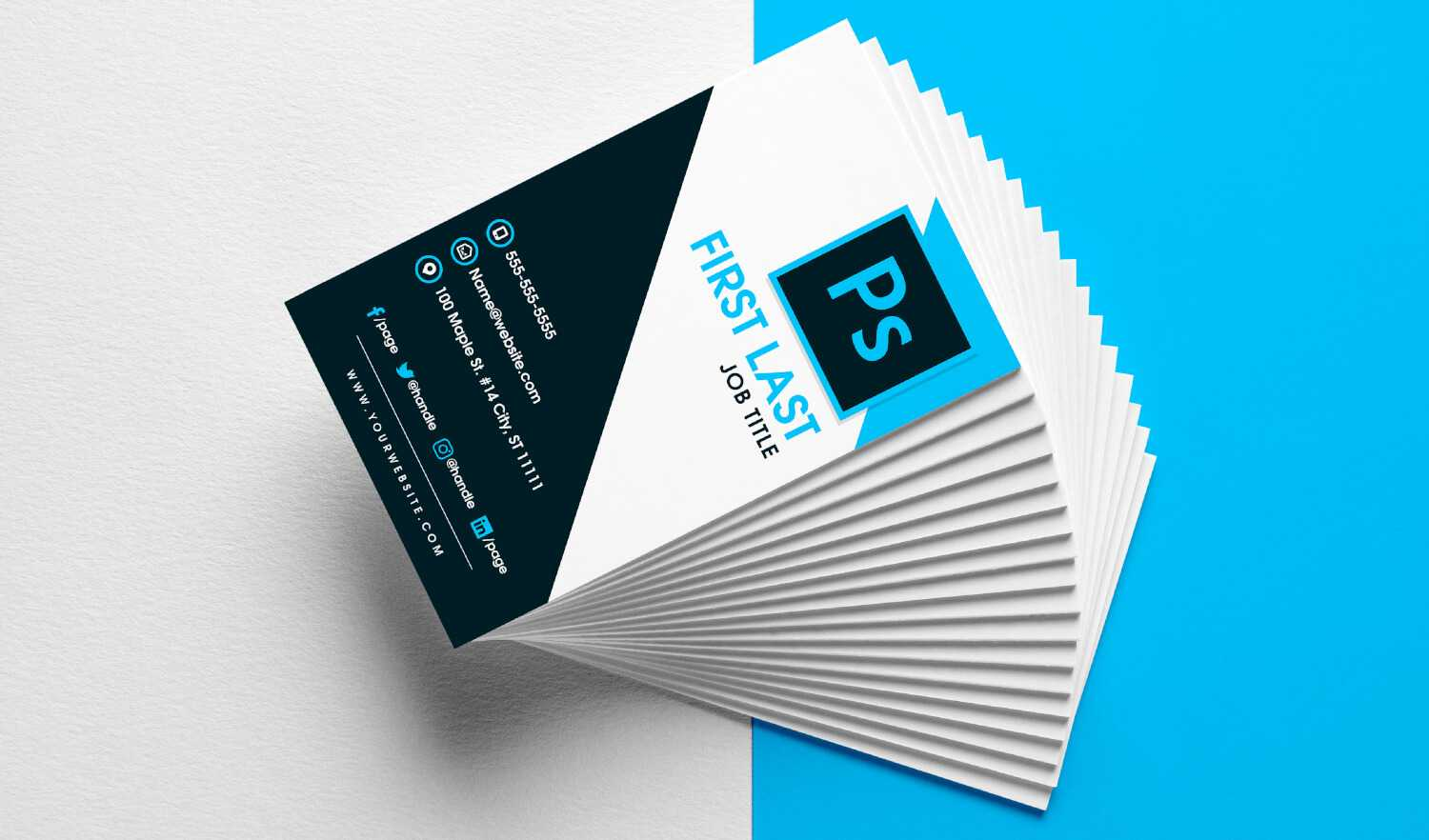 Free Vertical Business Card Template In Psd Format In Free Business Card Templates In Psd Format