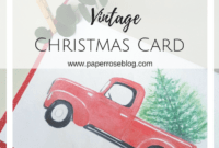 Free Vintage Christmas Card | The Most Wonderful Time regarding Diy Christmas Card Templates