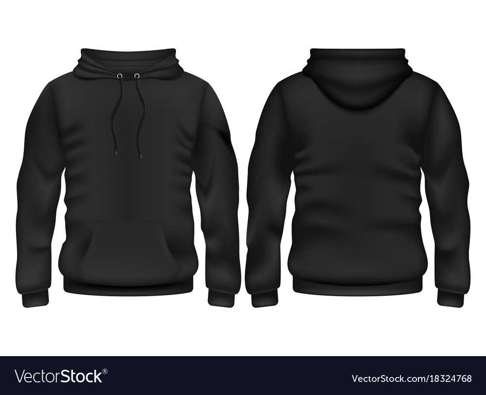 Front And Back Black Hoodie Template For Blank Black Hoodie Template