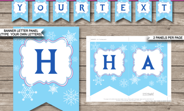 Frozen Party Banner Template for Diy Party Banner Template