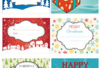 Fun Andolorfulhristmas Labels Free Printables Templates Gift with regard to Free Gift Tag Templates For Word