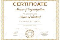 General Purpose Certificate Or Award With Sample Text That Can.. throughout Academic Award Certificate Template