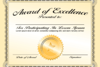 Generic Award Certificate In Vector Format – Trashedgraphics intended for Generic Certificate Template