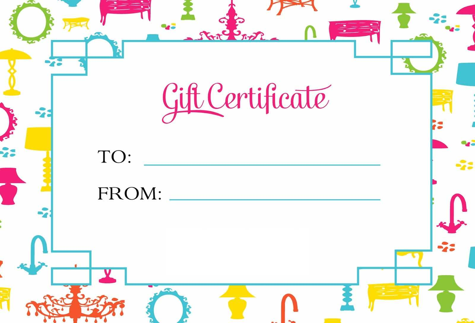 Gift Certificate Template For Kids Blanks | Loving Printable Regarding Kids Gift Certificate Template