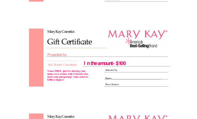 Gift Certificates | Mary Kay Gift Certificate! | Marykay with regard to Mary Kay Gift Certificate Template